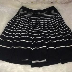 Talbots striped a-line skirt NWT